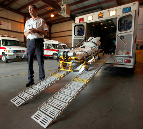 Image: American Medical Response operations manager Ken Keller