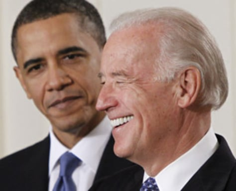 Image: Vice President Joe Biden introduces President Barack Obama