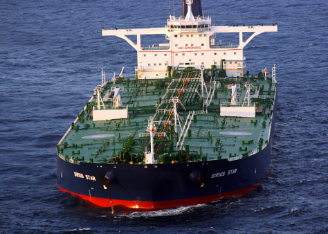 Image: Hijacked oil tanker