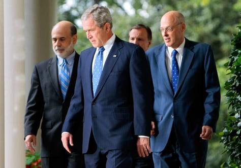 Image: Bush, Bernanke, Paulson, Cox