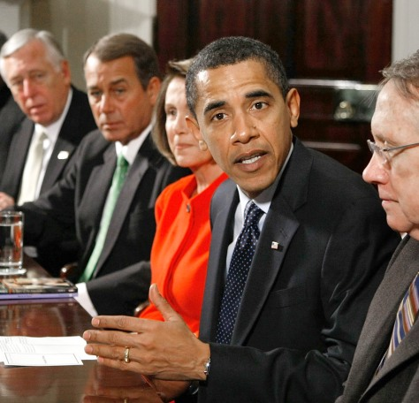 Image: Obama meets with congressional leaders