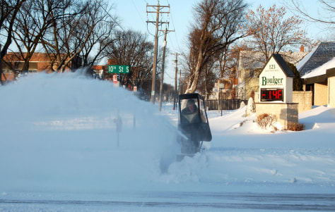 Image: Snow in Fargo, N.D.