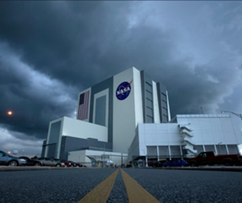 Image: VAB on Sunday after shuttle scrub