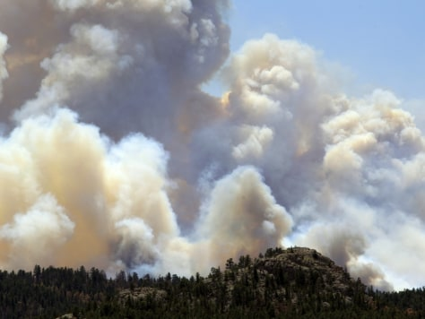 Image: Fire east of Red Feather Lakes, Colo.
