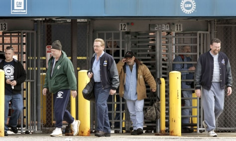 Image: General Motors workers leave GM Powertrain Plant