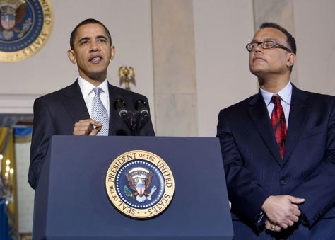 Image: U.S. President Barack Obama, Edward Montgomery