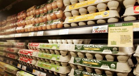 Image: organic eggs