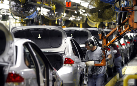 Image: Ford Focus assembly line.