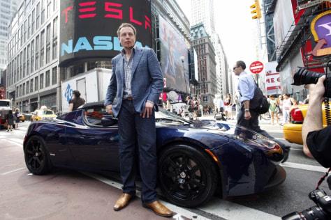 Image: Elon Musk & car