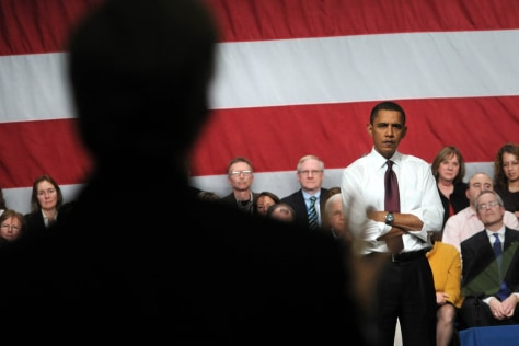 Image: Barack Obama answers questions
