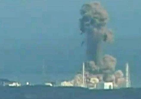 Image: Video image of a hydrogen explosion at the Fukushima No.1 power station