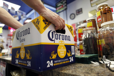 Image: Customer buying beer