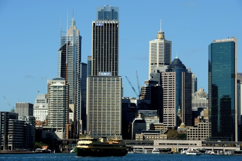 Image: The Sydney city skyline