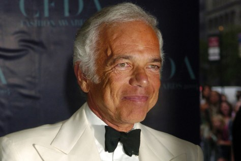 Image: Fashion designer Ralph Lauren