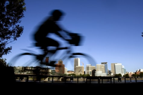 Image: Bicyclist in Portland, Ore.