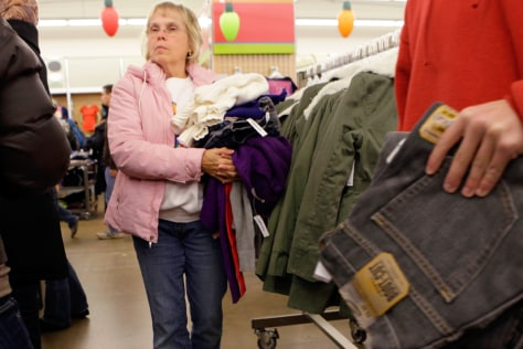 Image: Woman shopping at Old Navy