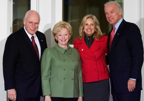 Image: Dick Cheney, Lynne Cheney, Joe Biden, Jill Biden