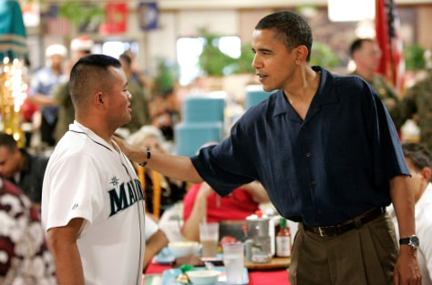 Image:Pesident-elect Barack Obama, Marine