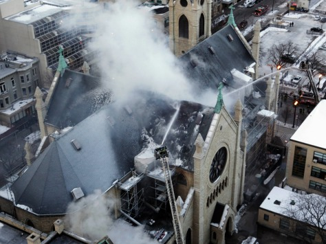 Image: Chicago Cathedral fire