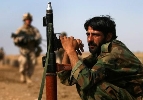 Image: Afghan armysoldier