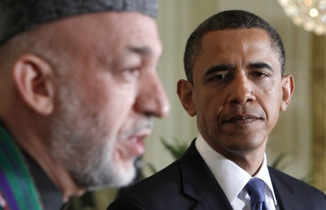 Image: Obama and Afghan President Karzai