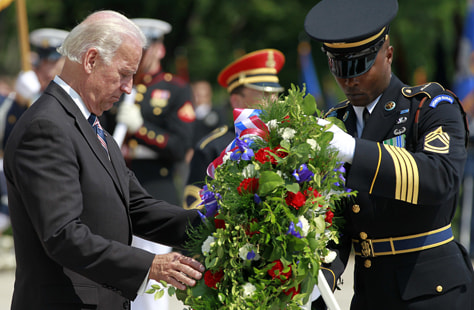 Image: Vice President Joe Biden lays a wreath at the Tomb of the Unknowns
