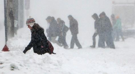 Image: snow in Minnesota