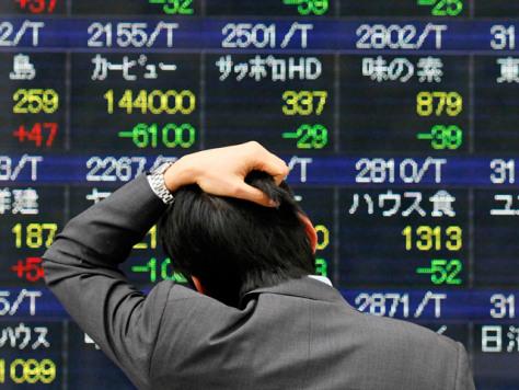 Image: Stock price board in Tokyo
