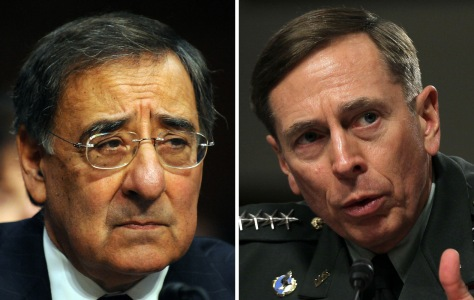 Image: Leon Panetta, Director of the CIA (left) and Gen. David Petraeus (right).