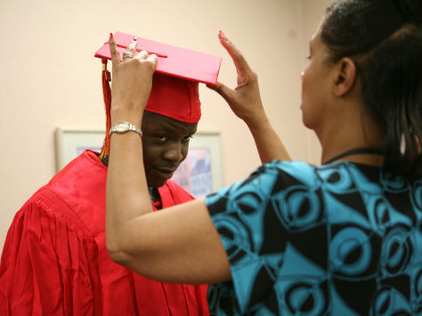 Image: Cap and gown for Elkhart grad