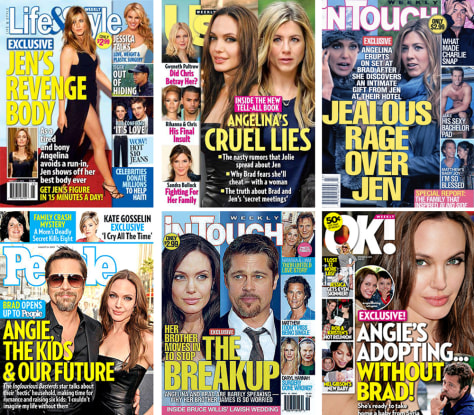 Image: Tabloid magazine covers