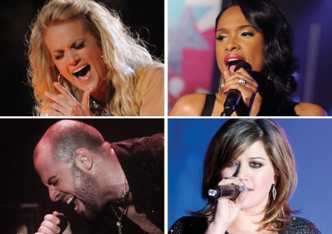 Image: Carrie Underwood, Jennifer Hudson, Kelly Clarkson, Chris Daughtry