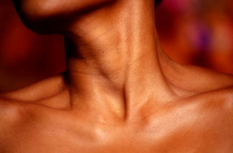 Image: woman's neck