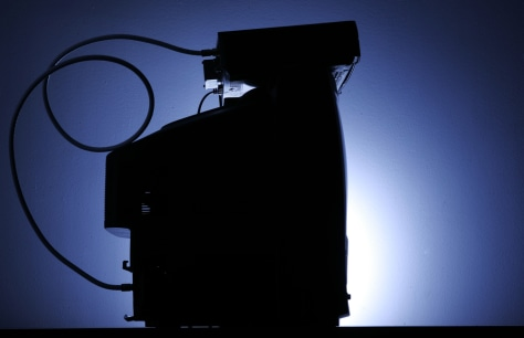 Image: A cable box is seen on top of a television in Philadelphia