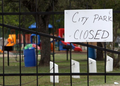 Image: Closed city park