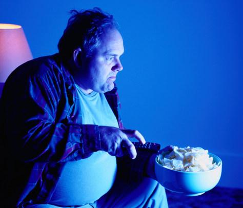 Image: Image: Watching television