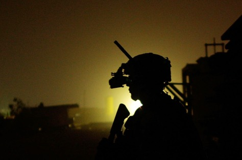Image: U.S. Soldiers Conduct Night Patrols