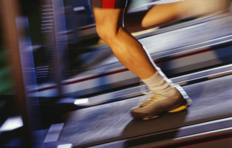 Image: Image: running on a treadmill