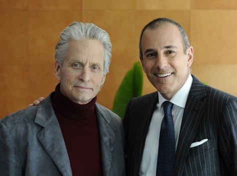 Image: Michael Douglas and Matt Lauer