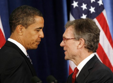 Image: Barack Obama, Thomas Daschle