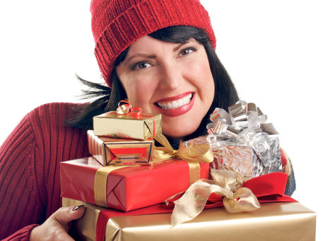 Image: Woman holiday shopping