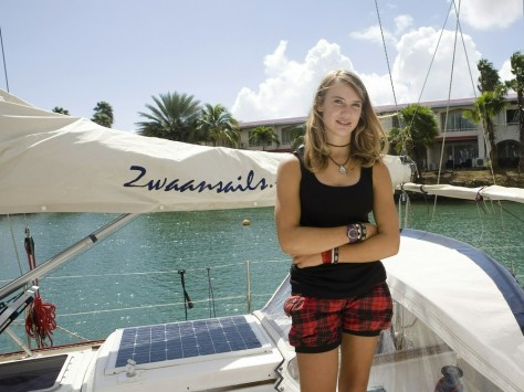Image: Sailor Laura Dekker in Bonaire