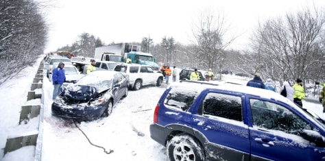Image: Interstate 93 pileup