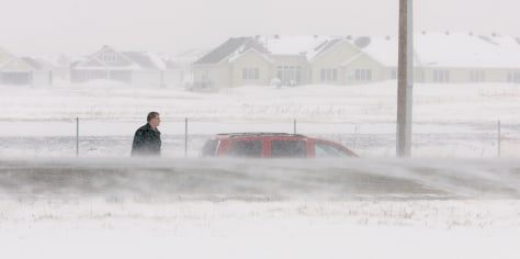 Image: Blowing snow in Fargo
