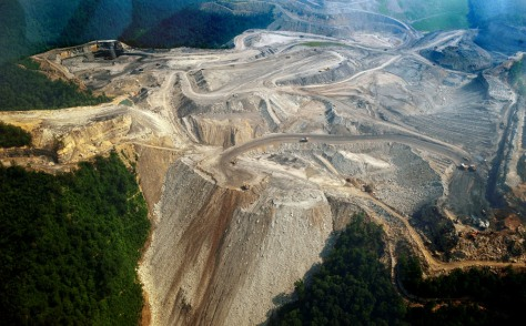 Image: mountaintop mine