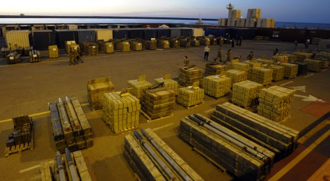 Image: Crates seized from ship