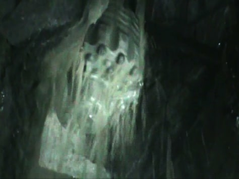 Image: Drill seen from inside mine