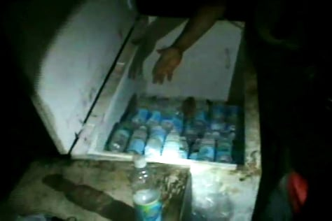 Image: Bottled water for miners