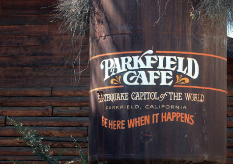 A cafe in Parkfield, Calif.