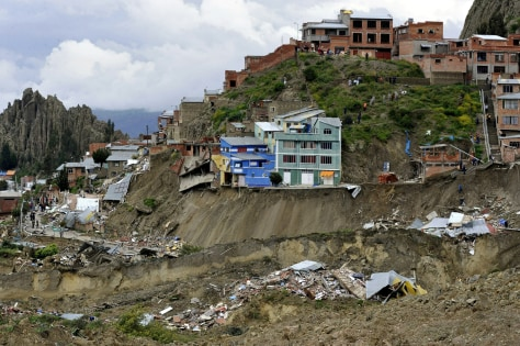 Image: Homes hit by landslide